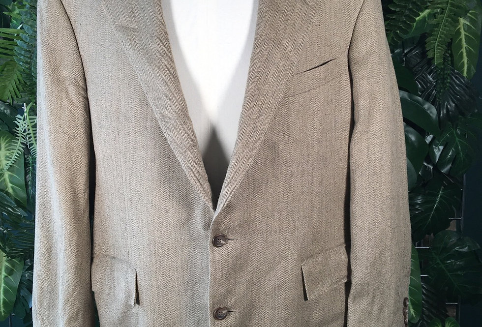 Polo Ralph Lauren herringbone pure silk blazer