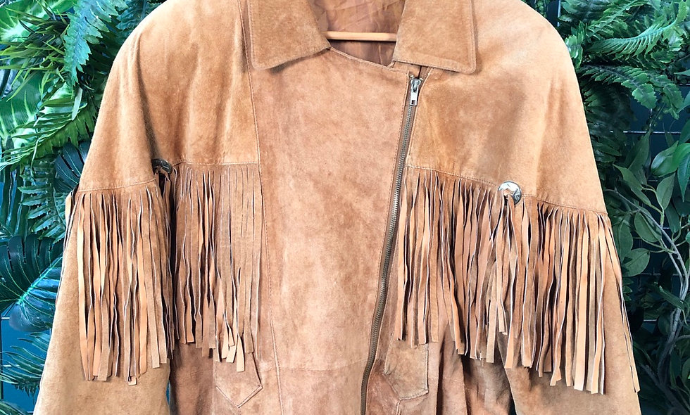 1980s suede fringe jacket