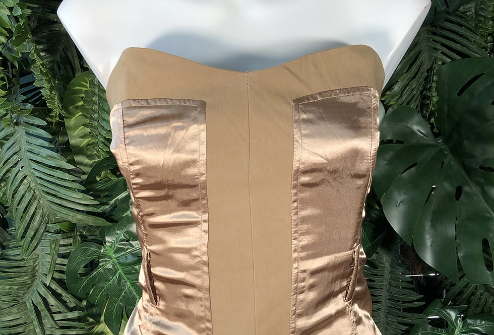 Jennifer Taylor satin corset