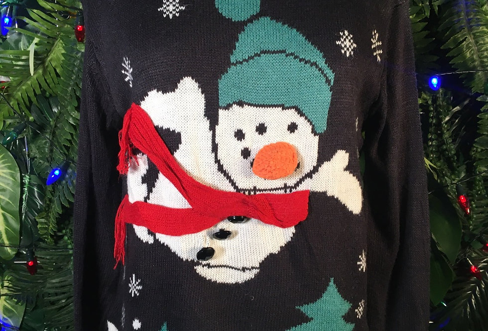 Flying Snowman Sweater (S)
