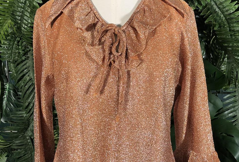 Rose gold 70s vibe blouse