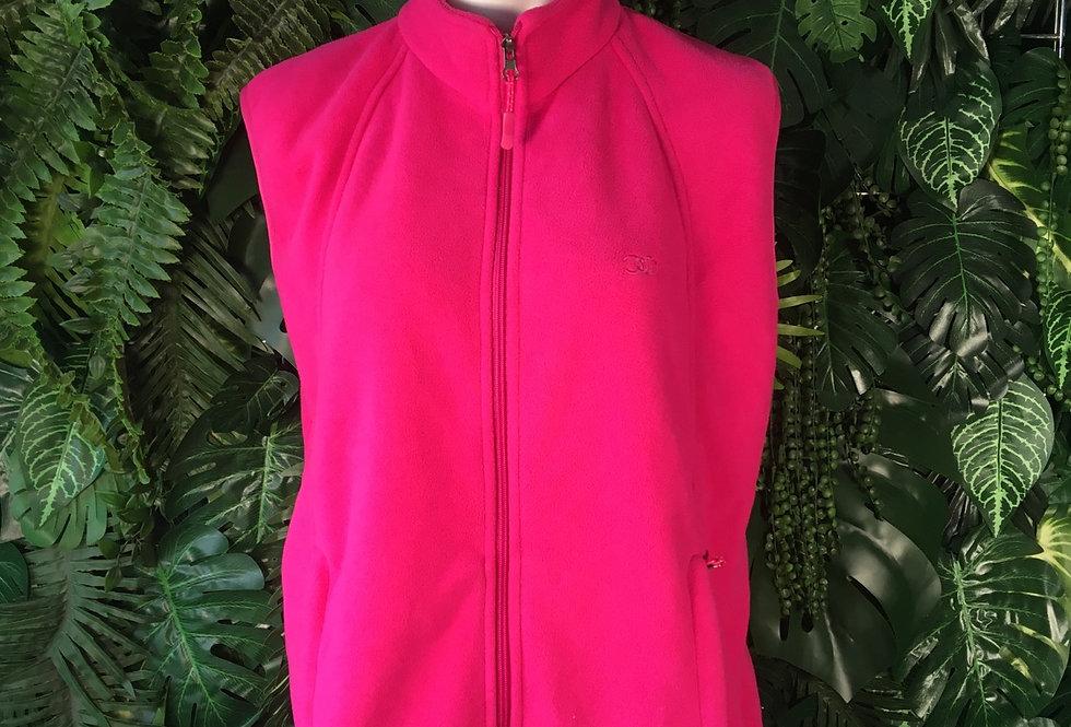 Hot pink fleece gilet (L)