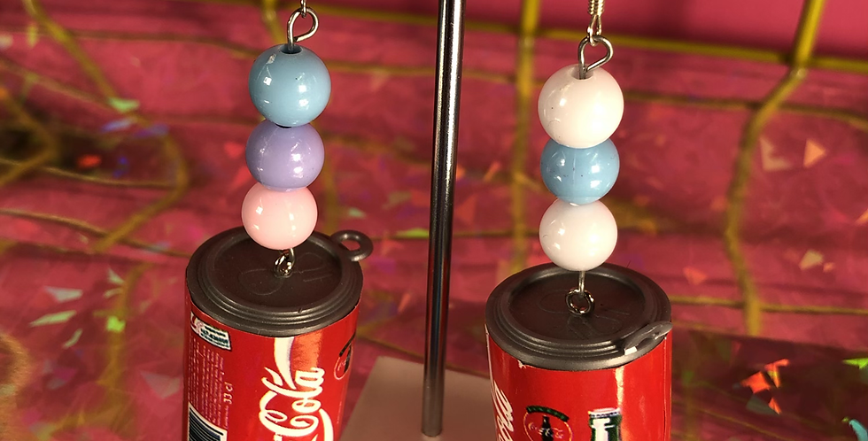 Cola can earrings