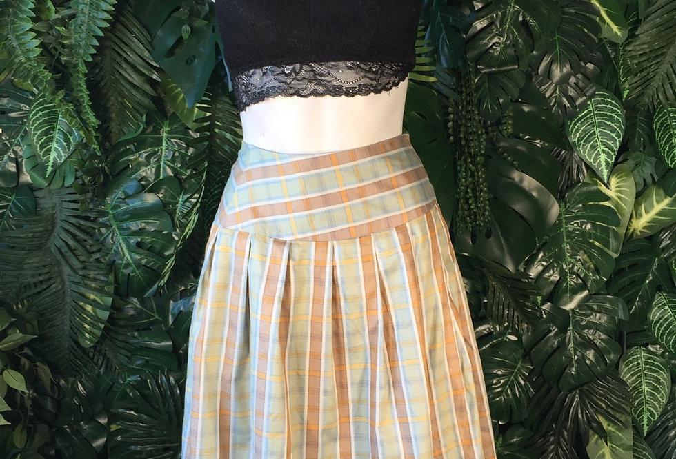 Plaid Velcro wrap skirt (size 10-12)