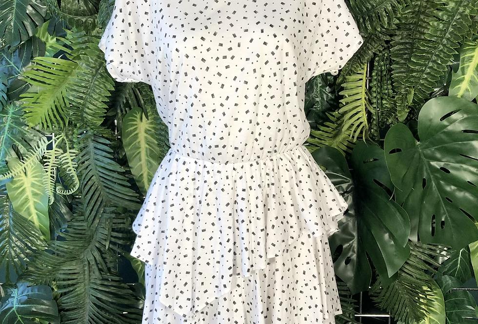 90s ruffle day dress