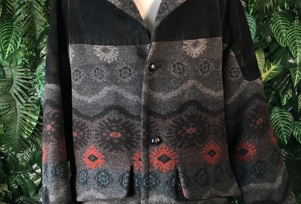 McNeal Aztec wool coat (XL)