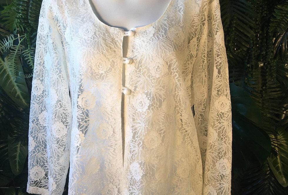 Lace floral cardigan