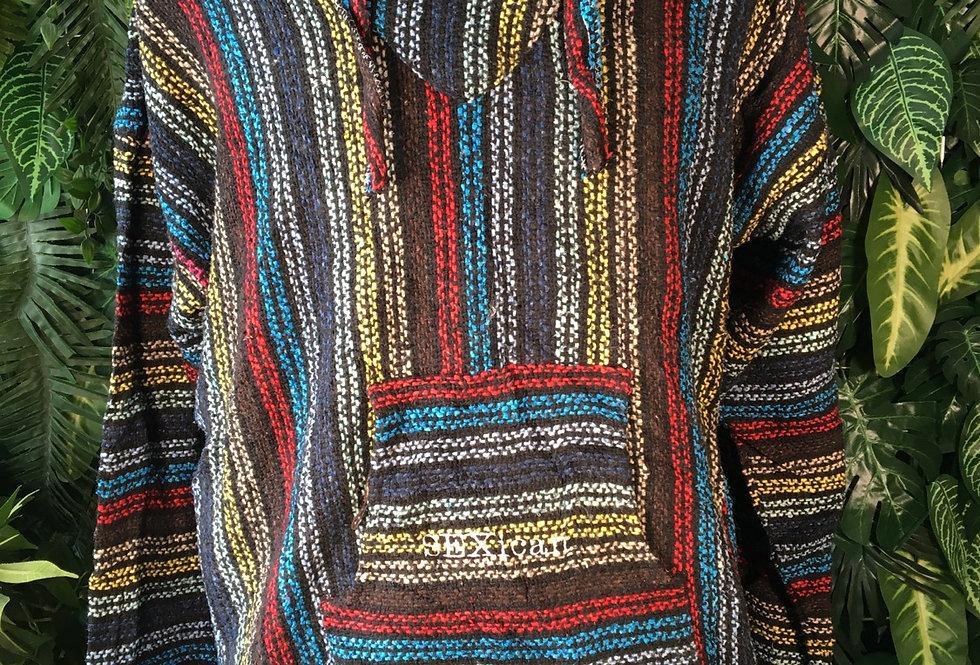 Multicolour baja hoody (L)