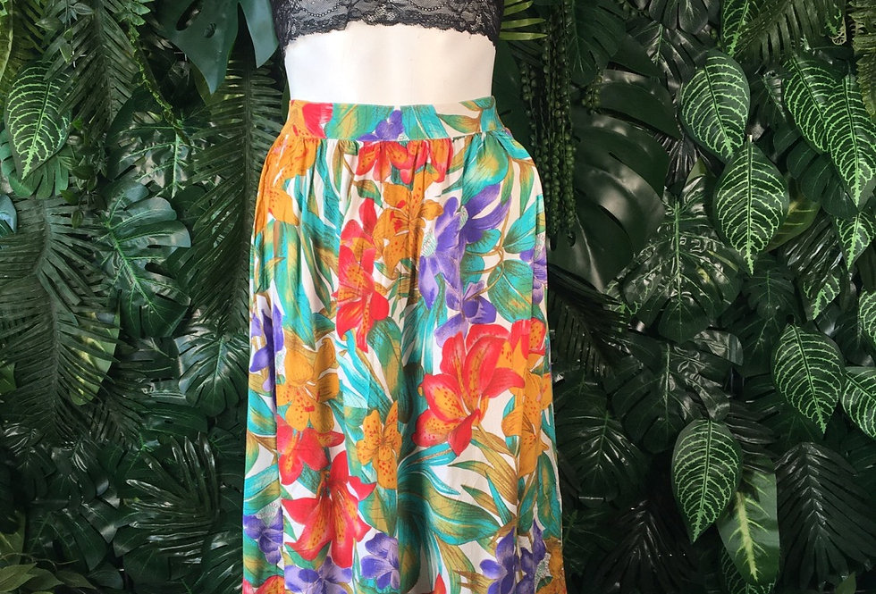 Koret 90s floral skirt