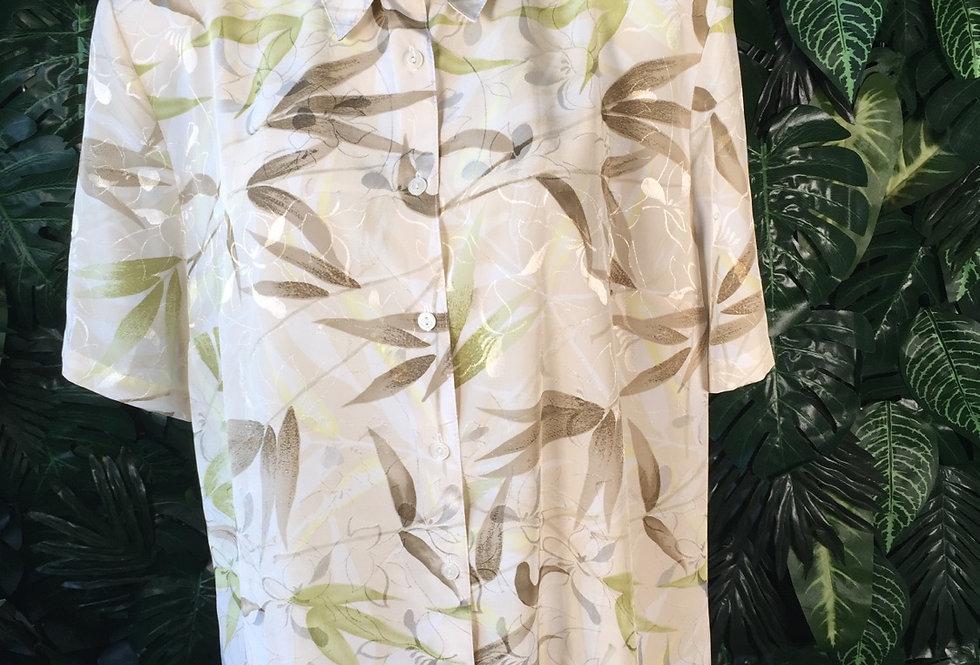 Canada shimmer leaf print blouse (size 18)