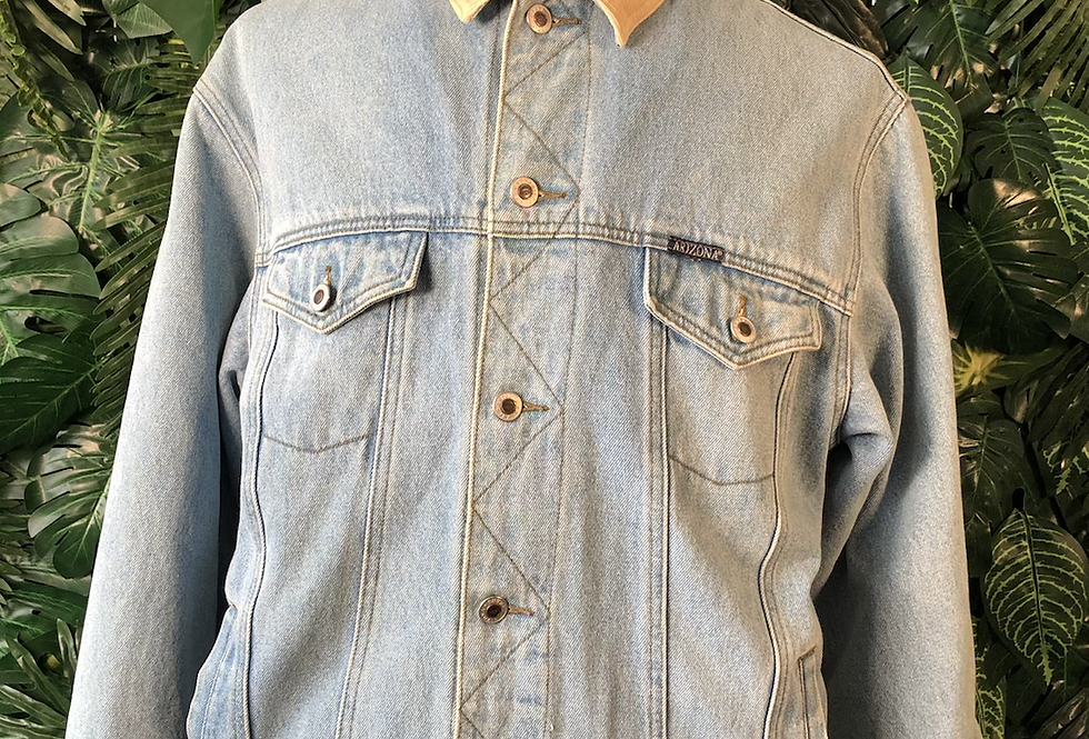Arizona cord collar denim jacket