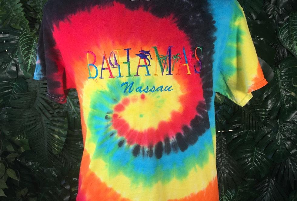Bahamas tie dye tee (M)
