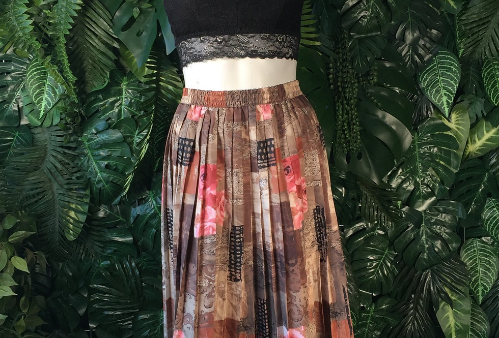 Floral pleated skirt (size 42)
