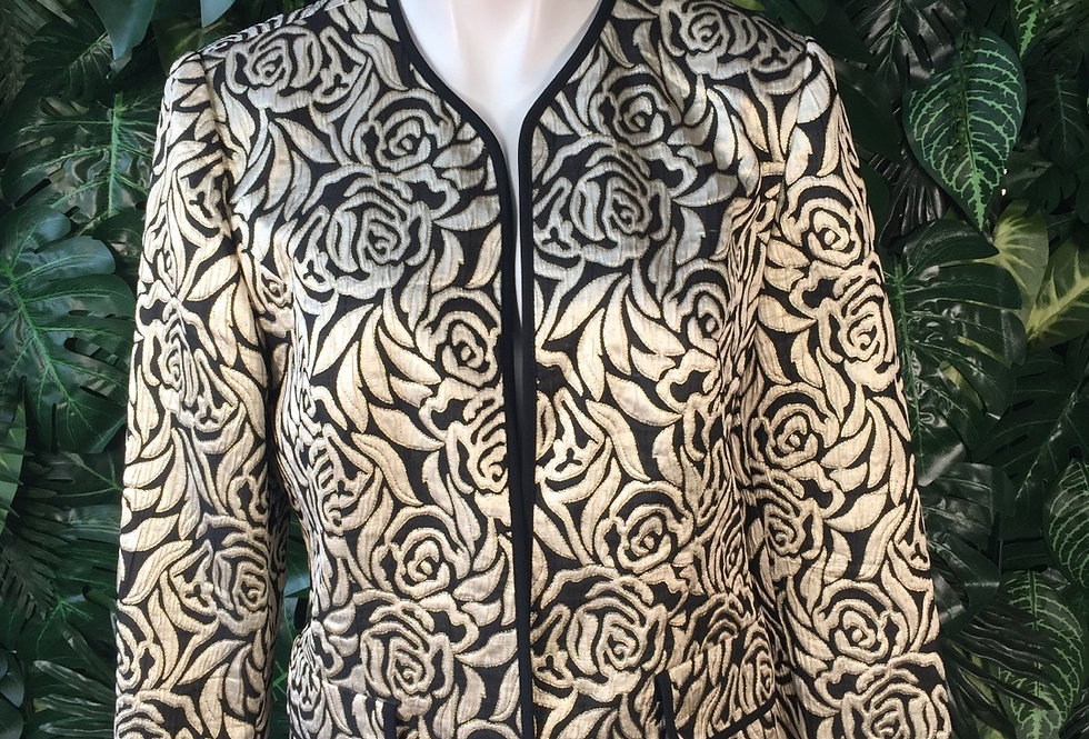 Graphic floral jacket (size 38)
