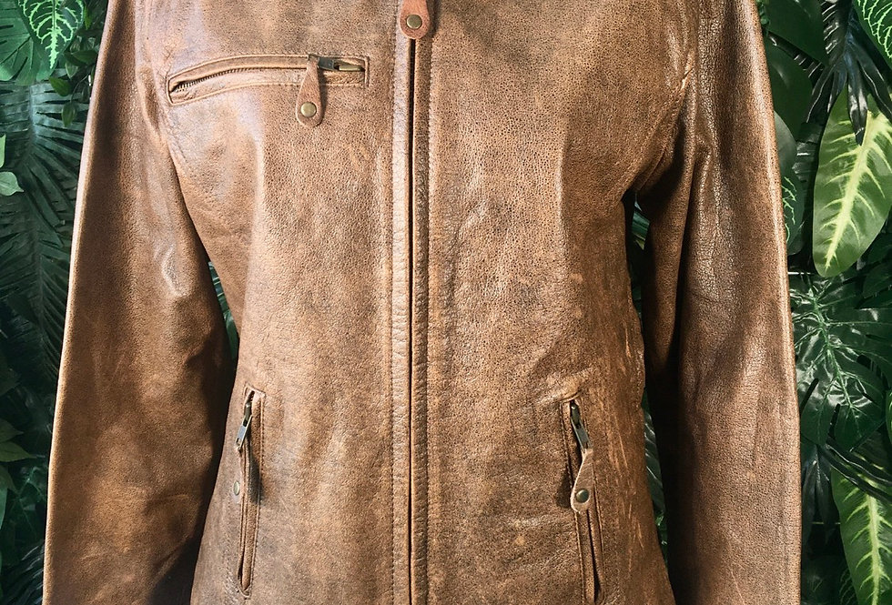 Wilson's leather biker jacket (M)