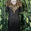 Thumbnail: Gold and black sequin dress