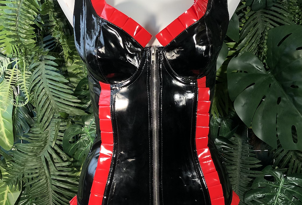 Pvc lace up corset