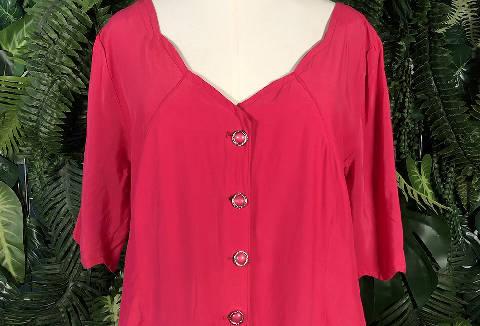 Pink 80s blouse