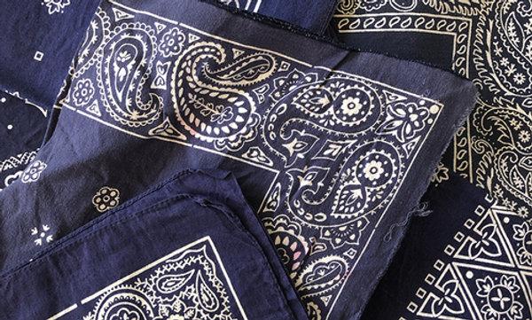 blue vintage bandana
