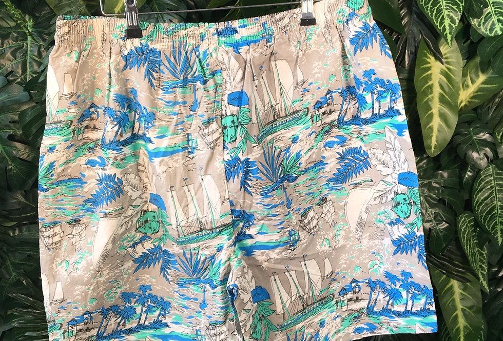 Sailing print shorts (XL)