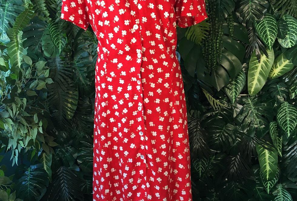 90s floral summer dress (Size 18)