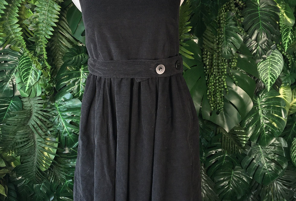 Belted corduroy pinafore (size 8-10)