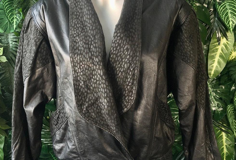 Berman's graphic leather jacket (M)