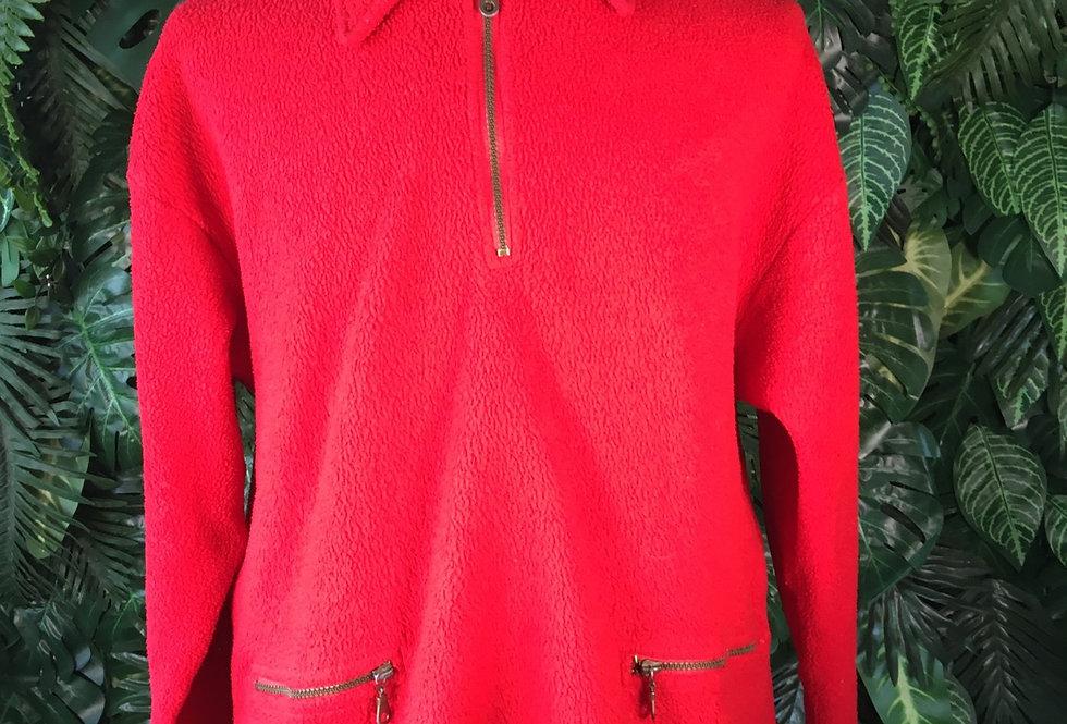 Red fleece pullover (L)