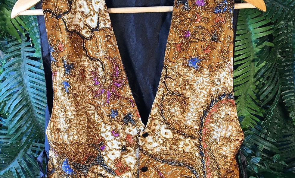 Beaded Gold Waistcoat (M/L)
