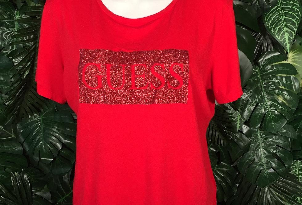 Guess glitter logo tee (M)