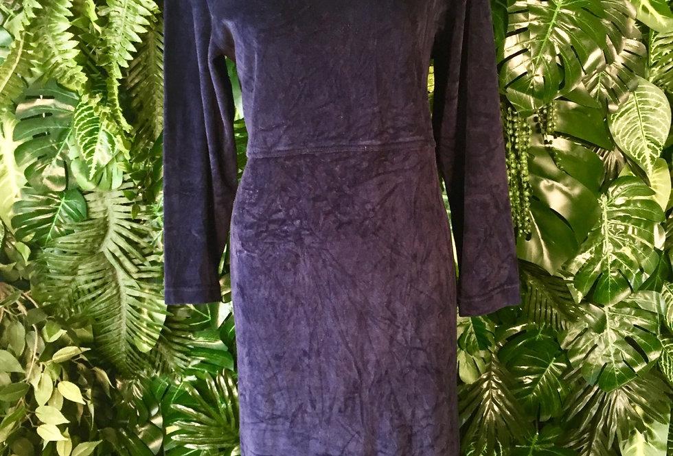 JG a blue velvet dress (size 18)