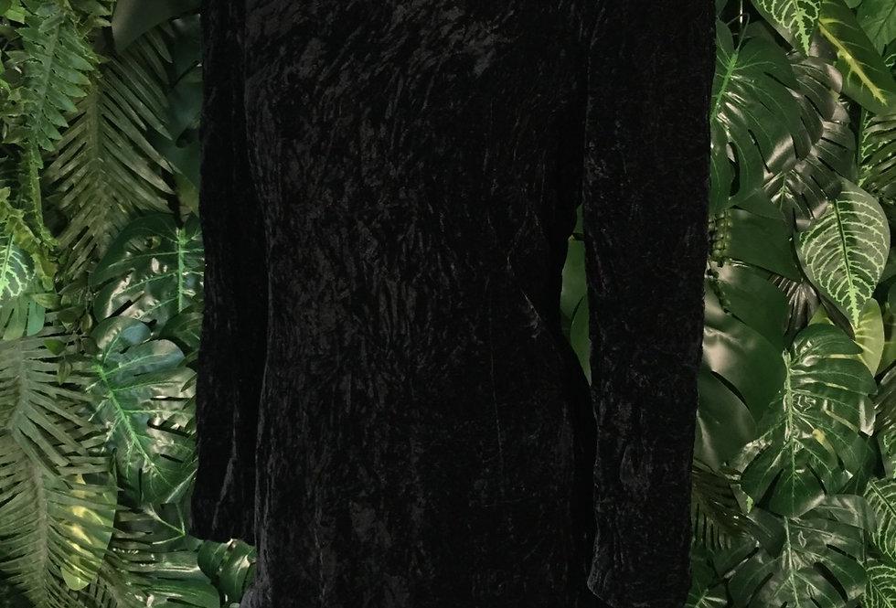 80s velvet ruffle prom dress (size 14)