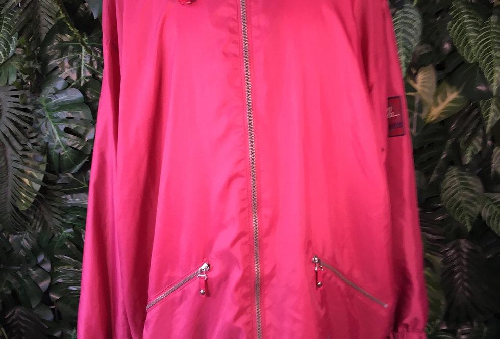 Jeantex rain jacket with foldaway hood (L)