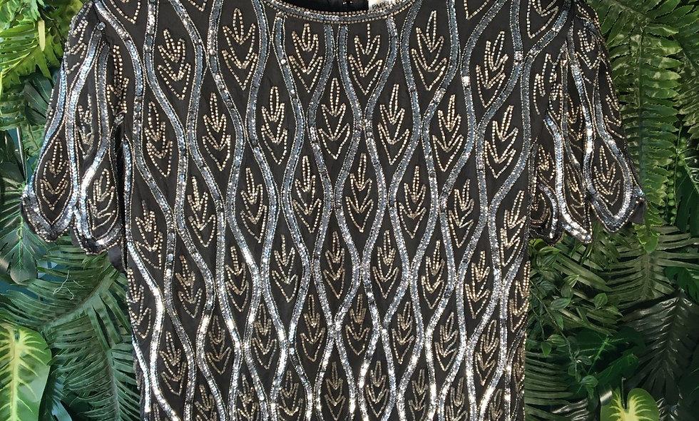 Papèll Silk Beaded Blouse (L)