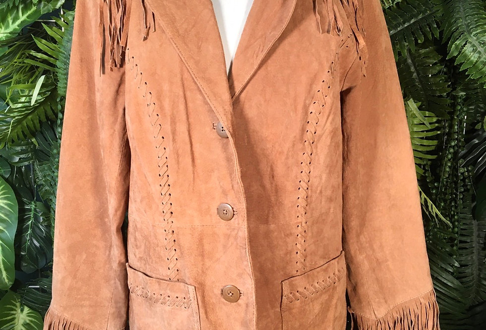 Fringed Suede Jacket (S)