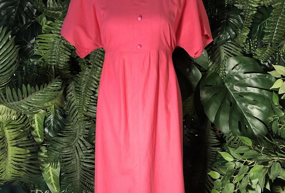 1960 pink collared dress