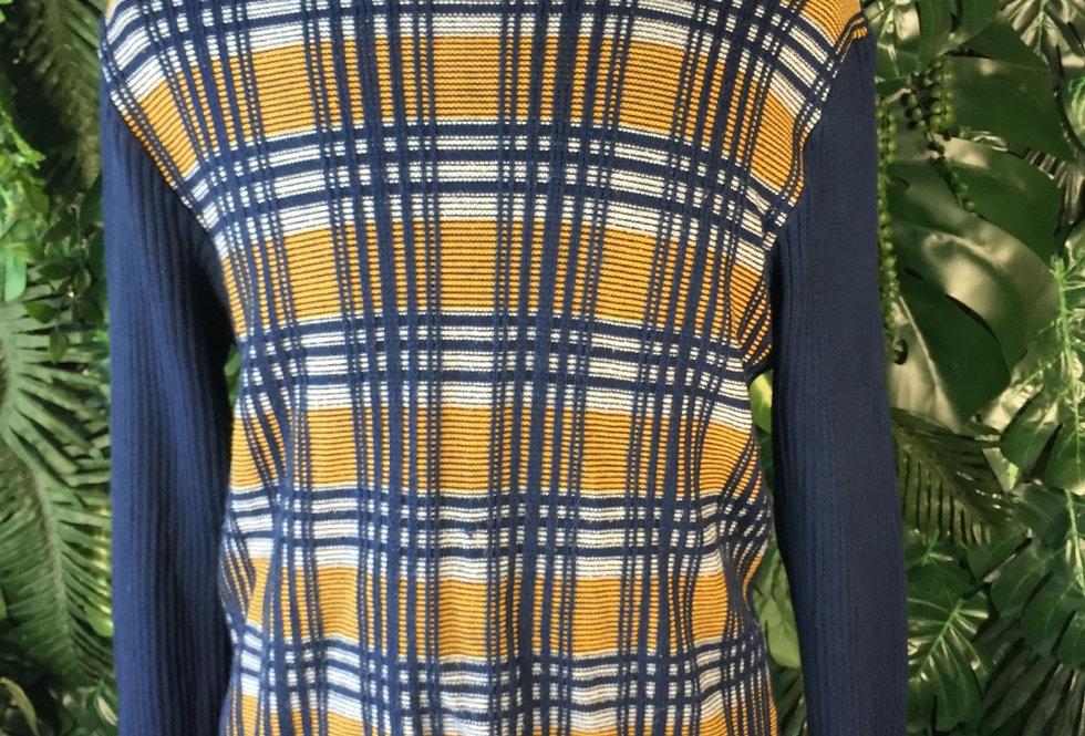 Tartan roll neck knit (S)