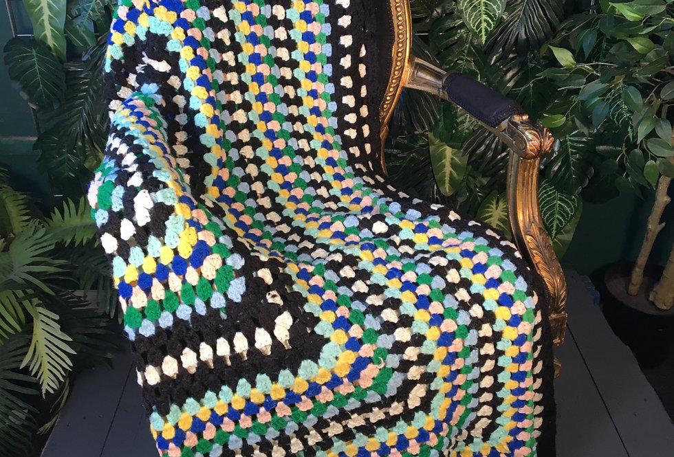 Handmade dot blanket