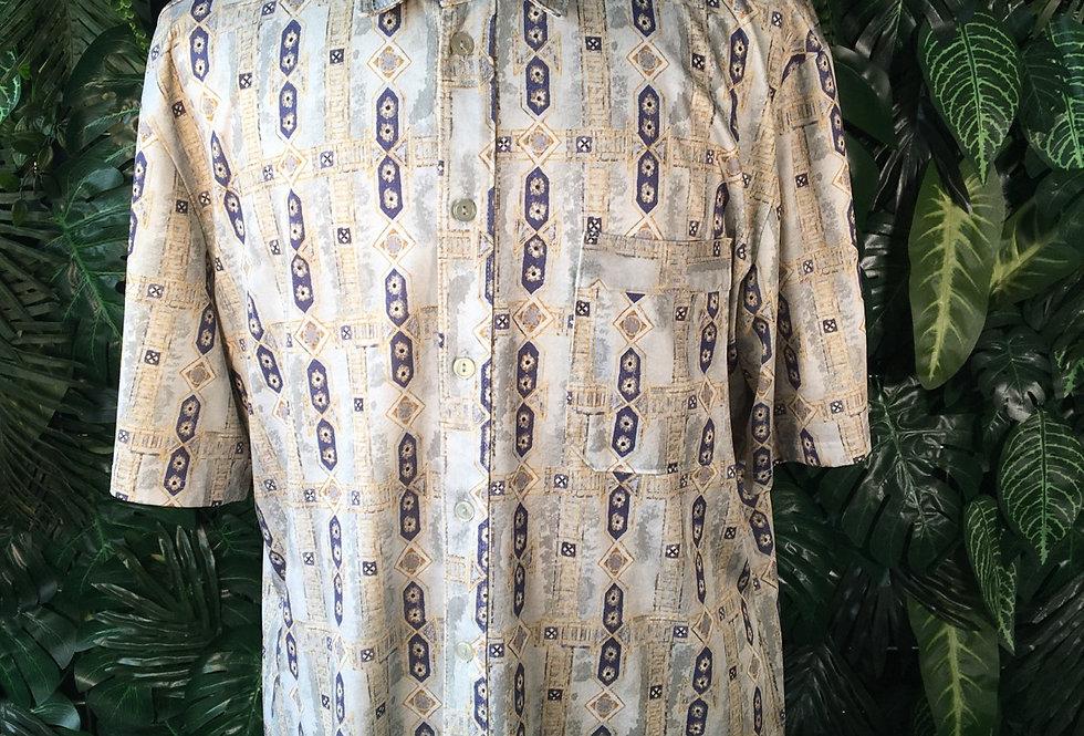 90s printed summer shirt (L)