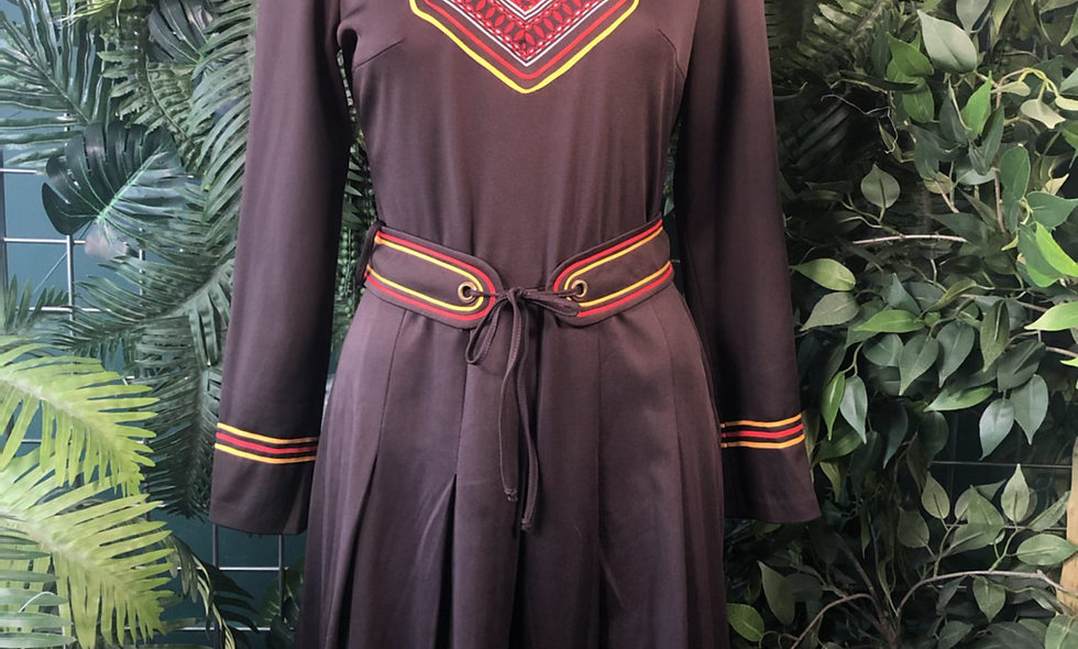 1970s belted dress