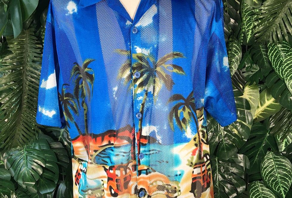 Tropical mesh shirt (L)