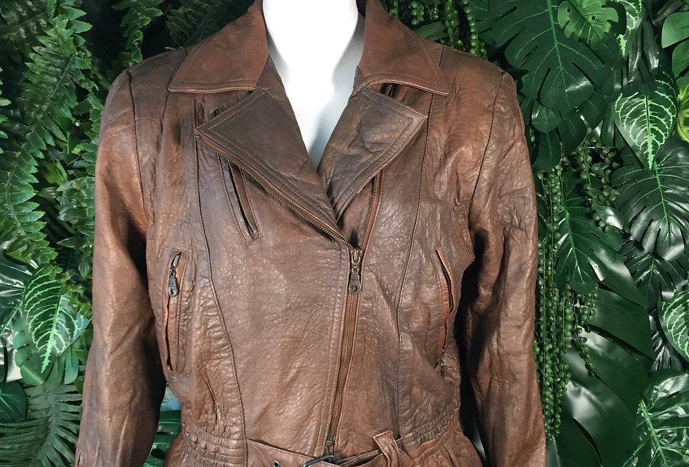 Ercetin 80s leather biker jacket (size 36)
