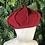 Thumbnail: Burgundy web weave wool hat