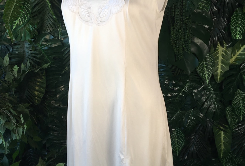 White slip with lace bust