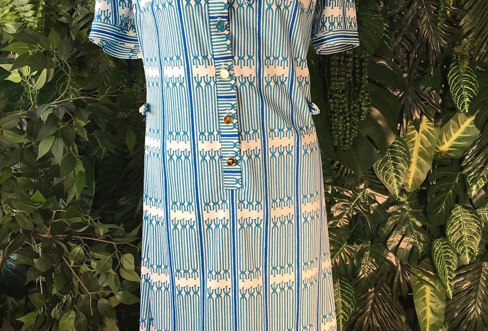 Grogor Mai knot print dress (size 18)