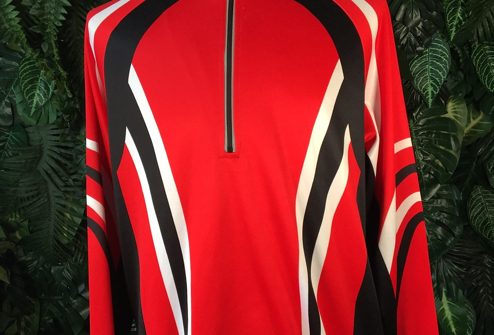 Graphic long sleeve cycle jersey (XL)
