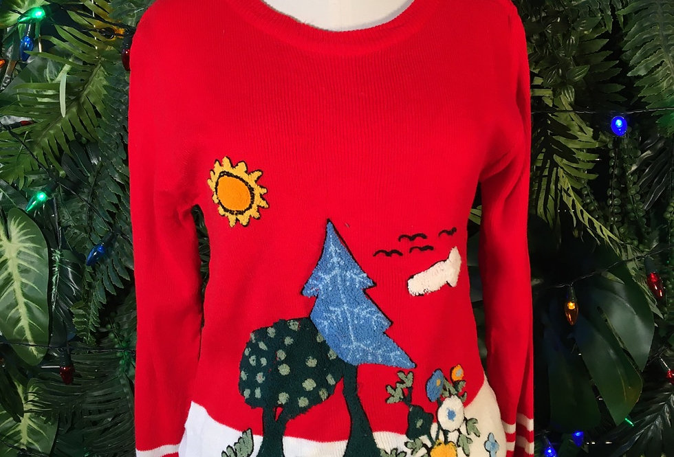 Winter Scene Sweater (M)