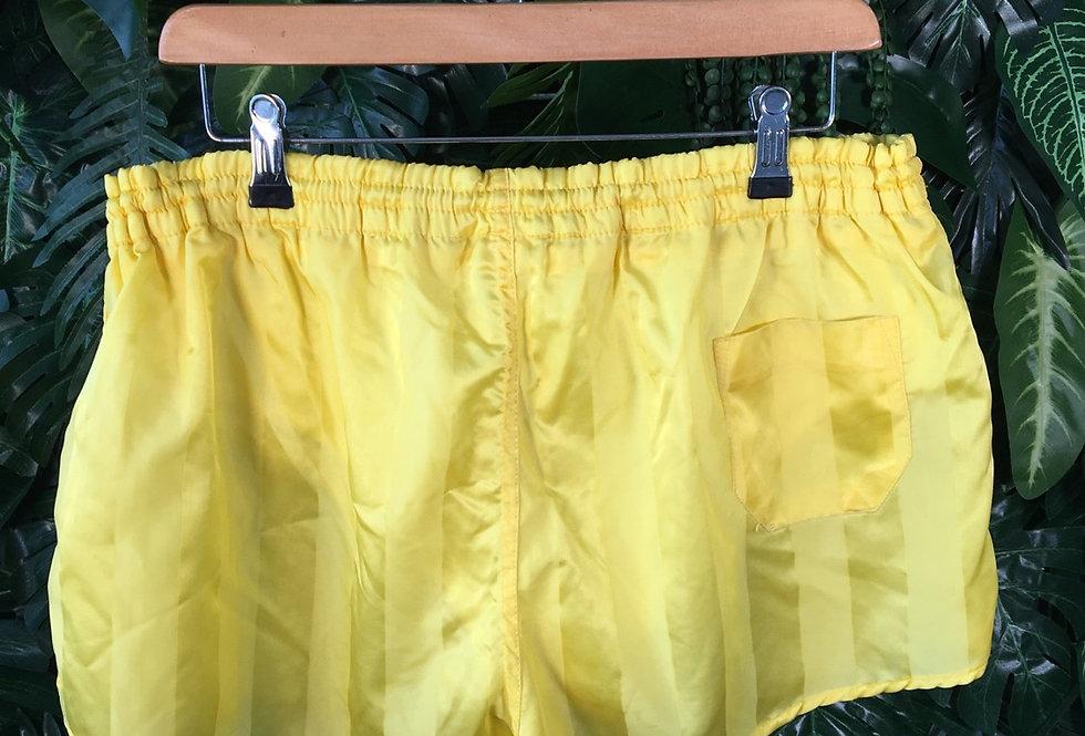 Yellow striped football shorts (M)