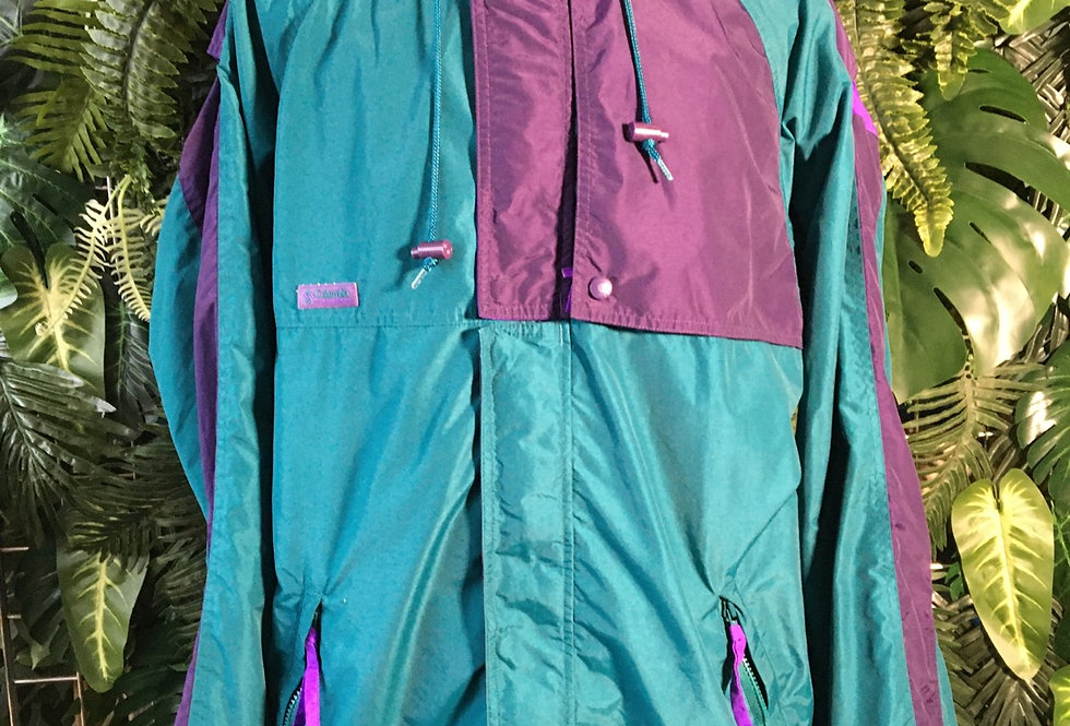 Columbia wind cheater with concealed hood