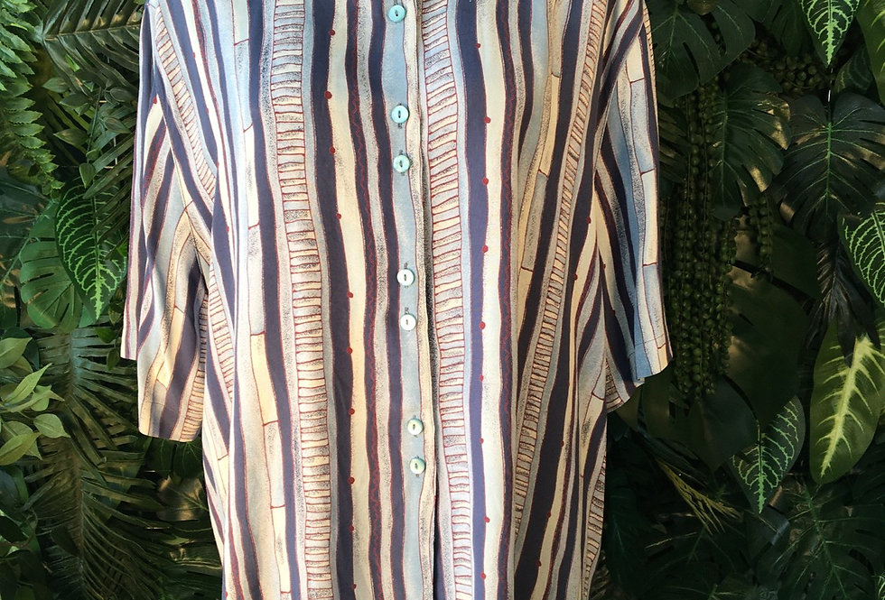 90s printed blouse (size 46)